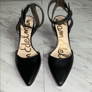 Sam Edelman Black Strappy Pointed Toe Heels